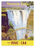 Victoria Falls, Zimbabwe - Fly BOAC (British Overseas Airways Corporation) Prints by Frank Wootton