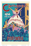 Panama Carnaval de (Carnival of) Feb 22-25, 1936 - Viva La Reina (Hail to the Queen) Láminas