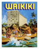 Waikiki - Outrigger Canoe - Outrigger Hotel Giclee Print