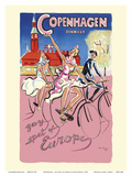 Copenhagen, Denmark - Gay Spot of Europe Poster by Hans Bendix