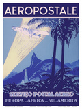 Aéropostale - Servico Postal Aereo (Air Mail Service) - Europe, Africa, South America Prints