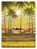Hawaii - Fly Hawaiian Air - Hawaiian Airlines Poster