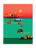 Wired Premium Giclee Print by Dan Matutina