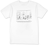 """It's very important that you try very, very hard to remember where you  e?"" - New Yorker T-Shirt T-shirts by Michael Maslin"