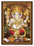 Lord Ganesha - Hindu Elephant Headed Deity - God of Wisdom, Knowledge and New Beginnings Poster