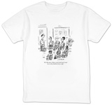 """Hi. My name is Barry, and I check my E-mail two to three hundred times a ?"" - New Yorker T-Shirt Shirt by David Sipress"