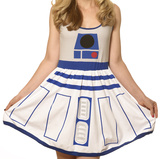 Star Wars- R2-D2 Costume Dress Mini Dress