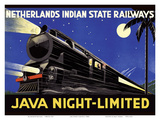 Java, Dutch East Indies - Java Night-Limited - Netherlands Indian State Railways Prints