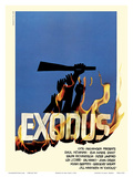Exodus Motion Picture - Jewish state of Israel Posters by Saul Bass