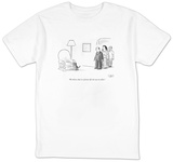 """We believe that in a former life she was an editor."" - New Yorker T-Shirt T-shirts by Sam Gross"