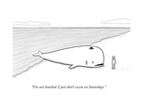 """I'm not beached. I just don't swim on Saturdays."" - New Yorker Cartoon Premium Giclee Print by Paul Noth"