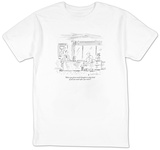 """Have you given much thought to what kind of job you want after you retire"" - New Yorker T-Shirt T-shirts by Barbara Smaller"