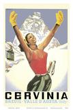 Breuil-Cervinia, Italy - Skier at Alpine Sky Resort - Valle D'Aosta (Aosta Valley) Plakaty autor Arnaldo Musati