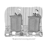 """My opponent hasn't answered one of my emails."" - New Yorker Cartoon Premium Giclee Print by Peter C. Vey"