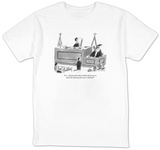 """I see.  And precisely what methods did you use to  determine that my clie"" - New Yorker T-Shirt T-shirts by Mick Stevens"