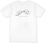 """Yes, they are crazy, but they can open the fridge."" - New Yorker T-Shirt T-shirts by Charles Barsotti"