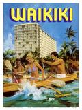 Waikiki - Outrigger Canoe - Outrigger Hotel Plakater