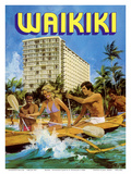 Waikiki - Outrigger Canoe - Outrigger Hotel Prints