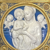 Madonna and Child with Cherubs, c.1485 Photographic Print by Andrea Della Robbia