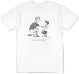 """Just remember, son, it doesn't matter whether you win  or lose?unless you?"" - New Yorker T-Shirt Shirt by Pat Byrnes"