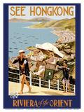 See Hong Kong - The Riviera of the Orient - China - Sedan (Jianyu) Shoulder Carriage Prints by J.D. Pandary