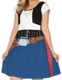Star Wars- Han Solo Costume Dress Mini Dress