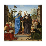 Visitation with St. Nicholas and St. Anthony Abbot, c.1490 Giclee Print by Piero di Cosimo