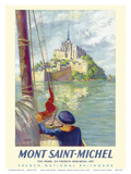Mont Saint-Michel - Normandy, France -French National Railroads Prints by David Starr