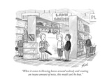 """When it comes to blowing leaves around uselessly and creating an insane a..."" - New Yorker Cartoon Premium Giclee Print by Tom Toro"