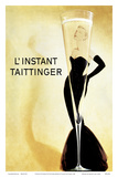 L'Instant Taittinger (The Taittinger Moment) - Champagne Advertisement - Grace Kelly Prints by Claude Taittinger