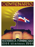 Centenario (Centennial) - Republica Dominicana (Dominican Republic) - 27th of February 1944-1844. Print by George Hausdorf