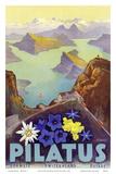 Mount Pilatus - Schweiz Switzerland Suisse - Lake Oberalp Prints by Otto Landolt
