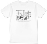 """Trust me Mortno electronic-communications superhighway, no matter how  v"" - New Yorker T-Shirt T-shirts by Donald Reilly"