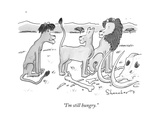 """I'm still hungry."" - New Yorker Cartoon Premium Giclee Print by Danny Shanahan"