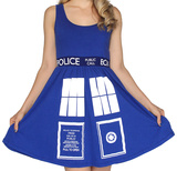 Doctor Who- Tardis Costume Dress Mini Dress