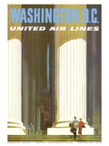 Washington D.C. - Lincoln Memorial - United Air Lines Prints by Stan Galli