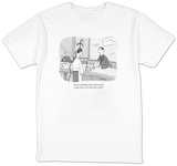 """I cook everything with an alternative energy source, so it may take a whi?"" - New Yorker T-Shirt T-Shirt by Peter C. Vey"