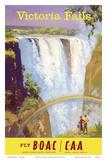 Victoria Falls, Zimbabwe - Fly BOAC (British Overseas Airways Corporation) Poster von Frank Wootton