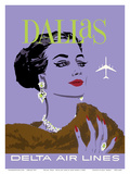 Dallas, Texas - Delta Air Lines Posters