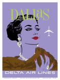 Dallas, Texas - Delta Air Lines Posters