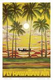 Hawaii - Fly Hawaiian Air - Hawaiian Airlines - Reprodüksiyon
