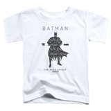 Toddler: Batman- Paisley Silhouette T-shirts