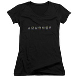 Juniors: Journey- Repeat Logo V-Neck T-shirts