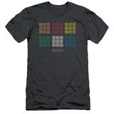 Rubik's Cube- Minimal Squares (Slim Fit) T-shirts