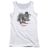 Juniors Tank Top: Rubik's Cube- Nerd Squirrel T-Shirt