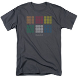 Rubik's Cube- Minimal Squares T-shirts