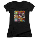Juniors: Fraggle Rock- Squared V-Neck T-shirts