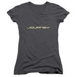 Juniors: Journey- Logo V-Neck Shirt