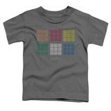 Toddler: Rubik's Cube- Minimal Squares Shirts