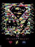 Justice League - Pixelation Nation Plastic Sign